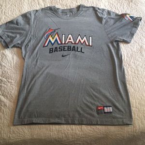 Mens XL Miami Marlins Nike T-Shirt BNWOT